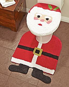 Santa Seat Cover and Pedestal Mat