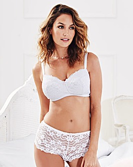 Daisy Lace Full Cup Non Wired White Bra