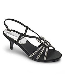 Heavenly Soles Diamante Sandals E Fit