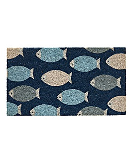 Fish Glitter Door Mat