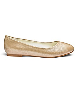 Heavenly Soles Ballerina Shoes EEE Fit