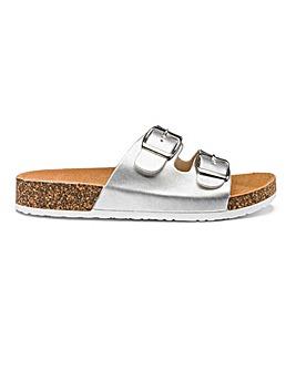Heavenly Soles Buckle Mule Sandals E Fit