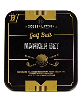 Scott and Lawson Golf Ball Marker Set