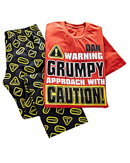 Personalised Grumpy Pyjamas