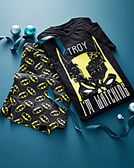 Personalised Batman Shortie Pyjamas