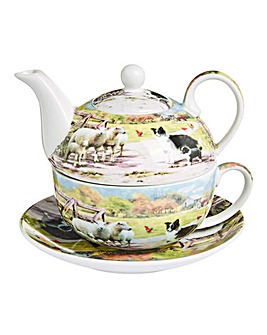 Collie and Sheep Tea for One