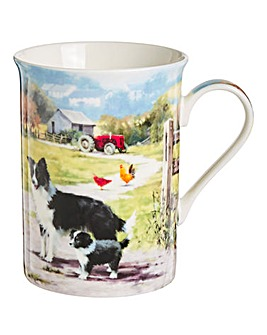 Collie and Sheep Mug