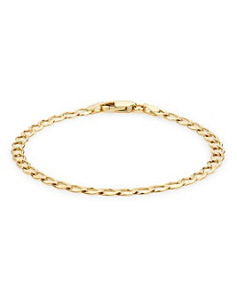 9ct Gold 9 inch Curb Bracelet