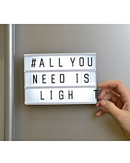Magnetic Light Up Letter Board