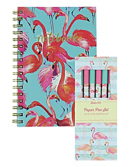 Flamingo Notebook and Pen Set