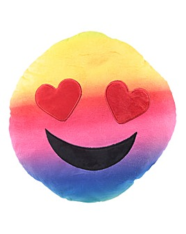 Rainbow Hearts Emoji Plush Cushion