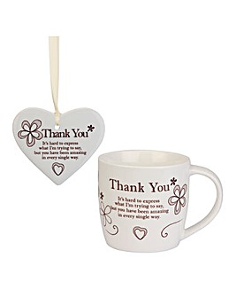 Sentiments Mug and Frame Gift Set