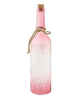 Love you to the Stars LED Bottle
