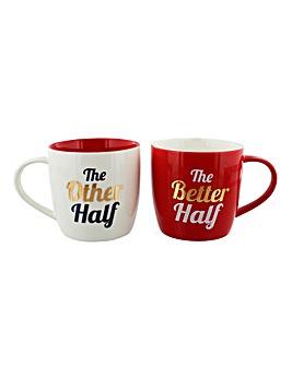 Other Half Better Half Gift Mug Set