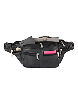 Leather Multi Pocket Bum Bag