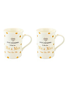 Mad Dots Mr & Mrs Mug Set
