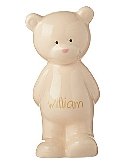 Personalised Porcelain Bear Keepsake