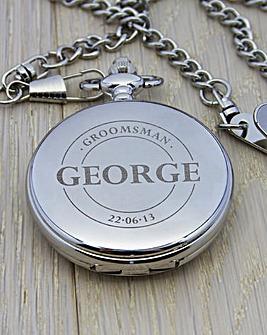 Personalised Groomsman Pocket Watch