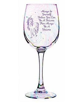 Unicorn Lustre Wine Glass