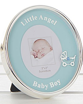 Little Angel Oval Photo Frame