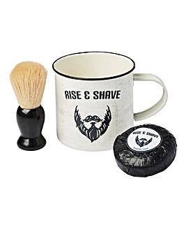 Rise & Shave Mug and Shaving Set