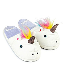 Personalised Unicorn Slippers