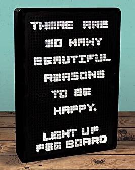 Light Up Peg Board