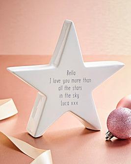 Personalised Message Ceramic Star