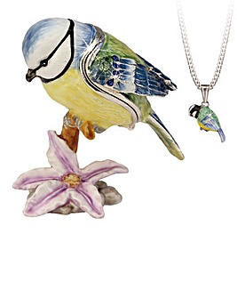 Bird Secret Trinket Box and Necklace