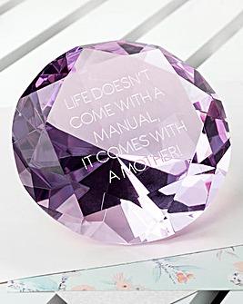 Personalised Large Diamond Paperweight