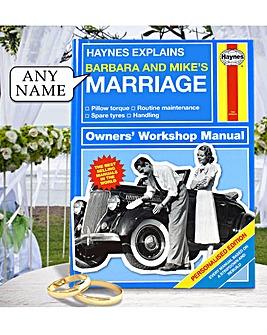Personalised Haynes Marriage Manual