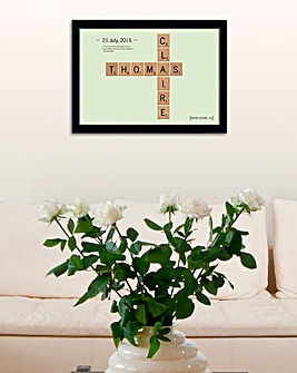 Love Tiles Framed Poster