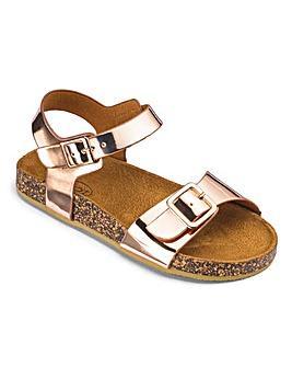 Girls Rose Gold Buckle Sandals