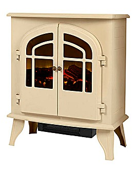 Warmlite 2000W Log Effect Cream Stove