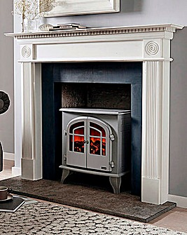 Warmlite 2000W Log Effect Grey Stove