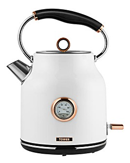 Tower 3kW 1.7litre White Kettle