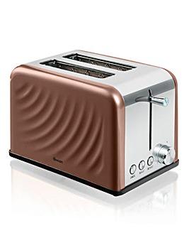 Swan Twist Copper 2 Slice Toaster