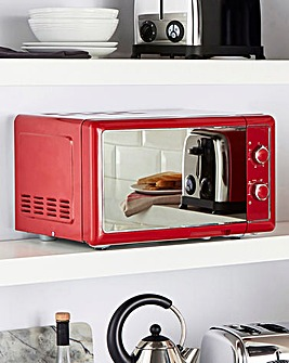 JDW 20Litre Manual Red Microwave