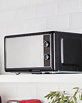 JDW 20Litre Manual Black Microwave