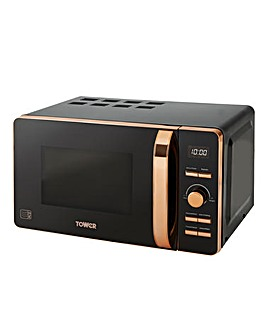 Tower 20Litre Digital Black Microwave