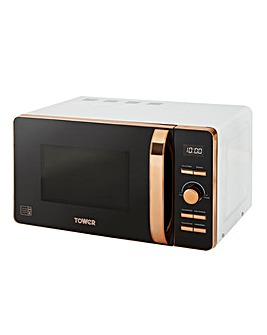 Tower 20Litre Digital White Microwave