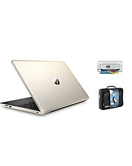 """HP 15"""" Win10 4GB 1TB AMD Print Case Set"""