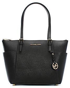 Michael Kors JST PKT Black Shoulder Bag
