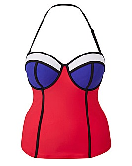Simply Yours Colour Block Tankini Top
