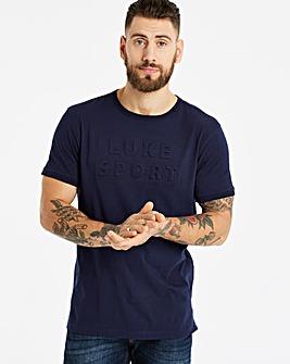 Luke Sport Dark Navy 3D Letter T-Shirt L