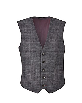 Burton London Grey Check Suit Waistcoat