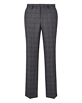 Burton London Grey Check Suit Trs 32In