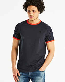 Original Penguin Contrast Rib Tee Long