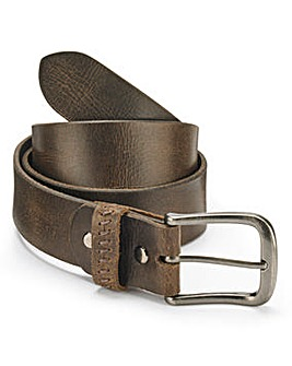 SOULED OUT BROWN LEATHER BELT