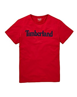 Timberland Red Linear T-Shirt R